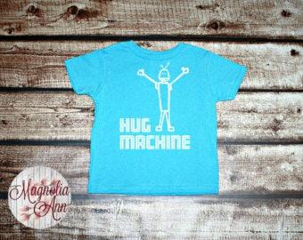 Hug Machine, Robot, Toddler T-Shirt, Toddler Graphic Tee, Toddler Shirt,  Trendy Tee, Toddler Clothes
