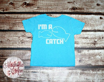 I'm A Catch, Graphic Toddler T-Shirt, Toddler Graphic Tee, Toddler Shirt,  Trendy Tee, Toddler Clothes