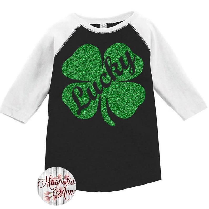 16cd0e83 Lucky Shamrock Toddler Baseball Raglan Tshirt Kids St. | Etsy