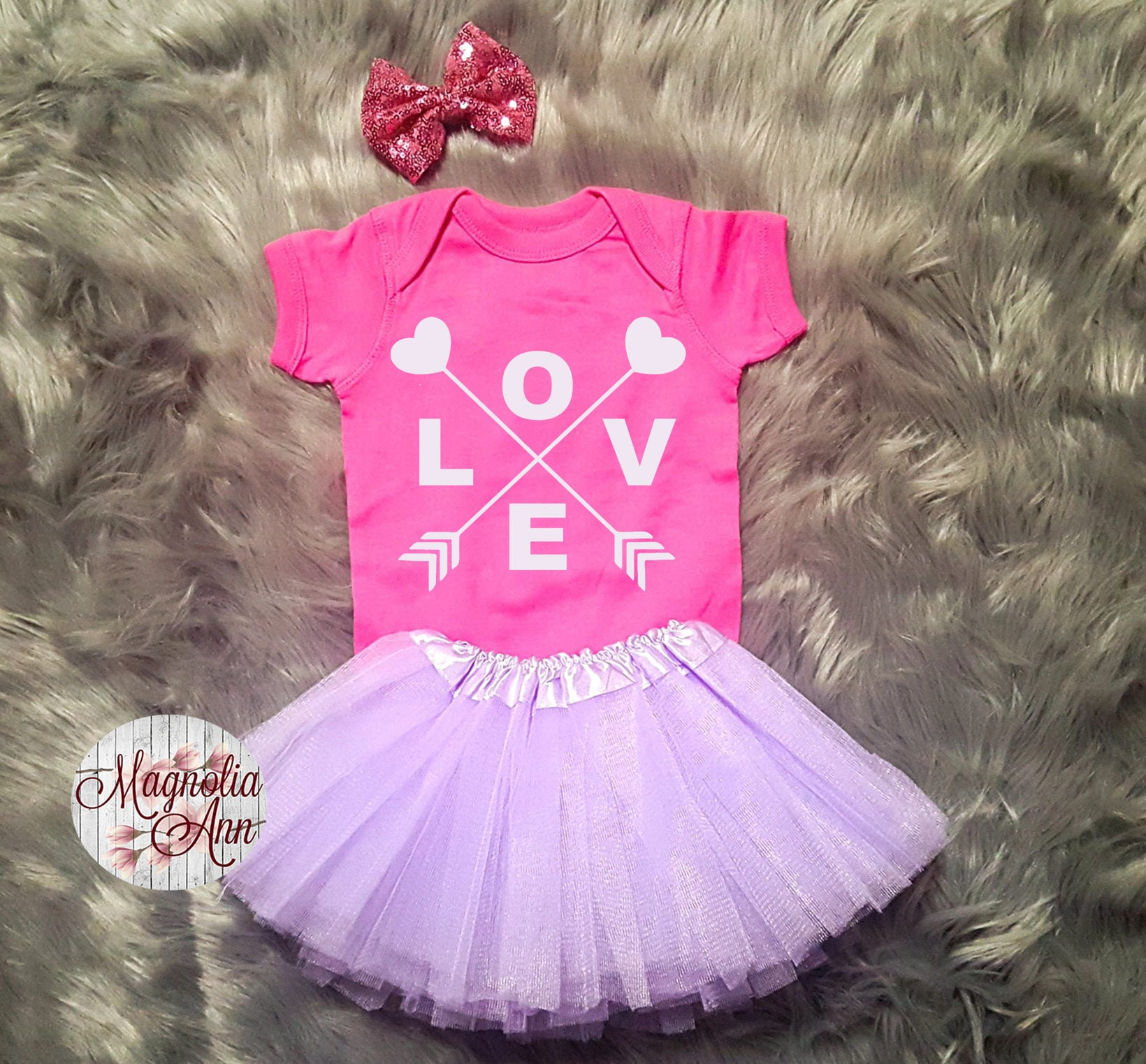 Love Heart Arrow Valentines Outfit Toddler Valentines Day Outfit