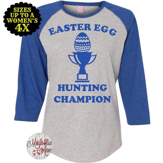 7b1a6a71b47 Easter Egg Hunting Champion Women s Baseball Raglan