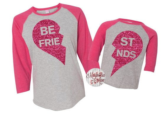 b97728f2f63 Best Friend Raglan Shirts BFF Shirts Mommy and Me Shirts