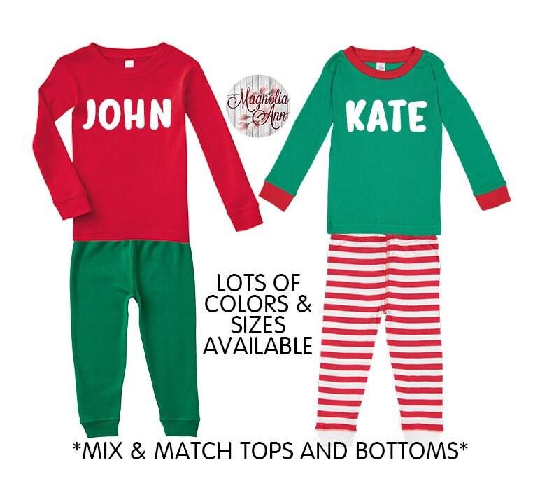 Personalized Christmas Pajamas Kids.Personalized Christmas Pajamas Kids Pajamas Christmas