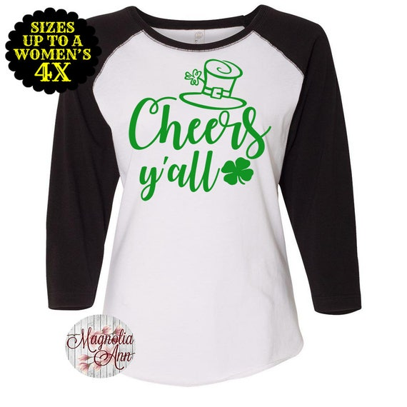 8ff6f62fcfbc6 Cheers Y all Baseball Raglan T shirt Sizes Small-4X St