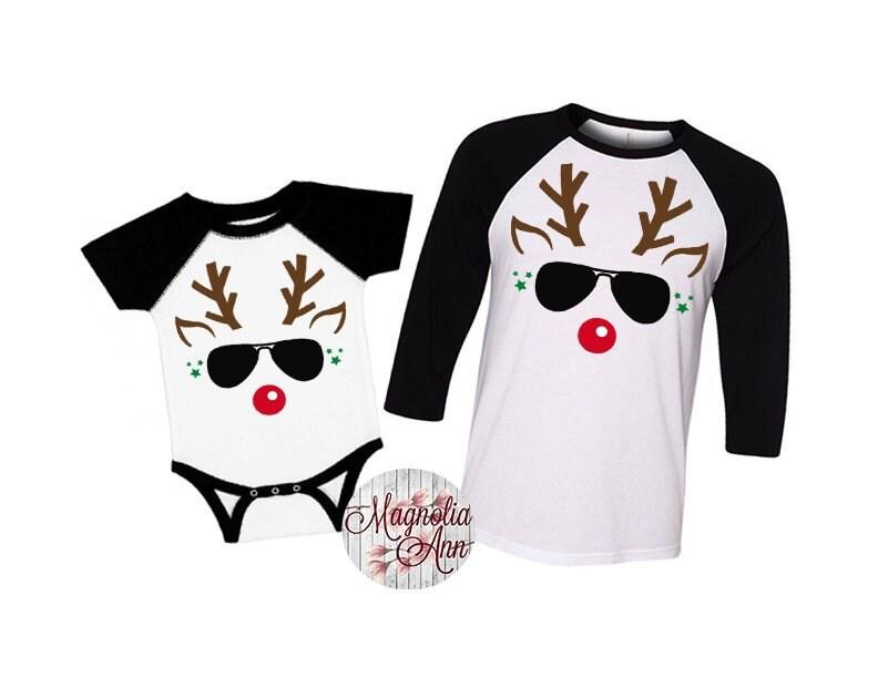 Boys Reindeer Shirt, Family Christmas Shirts, Plus Size Christmas ...