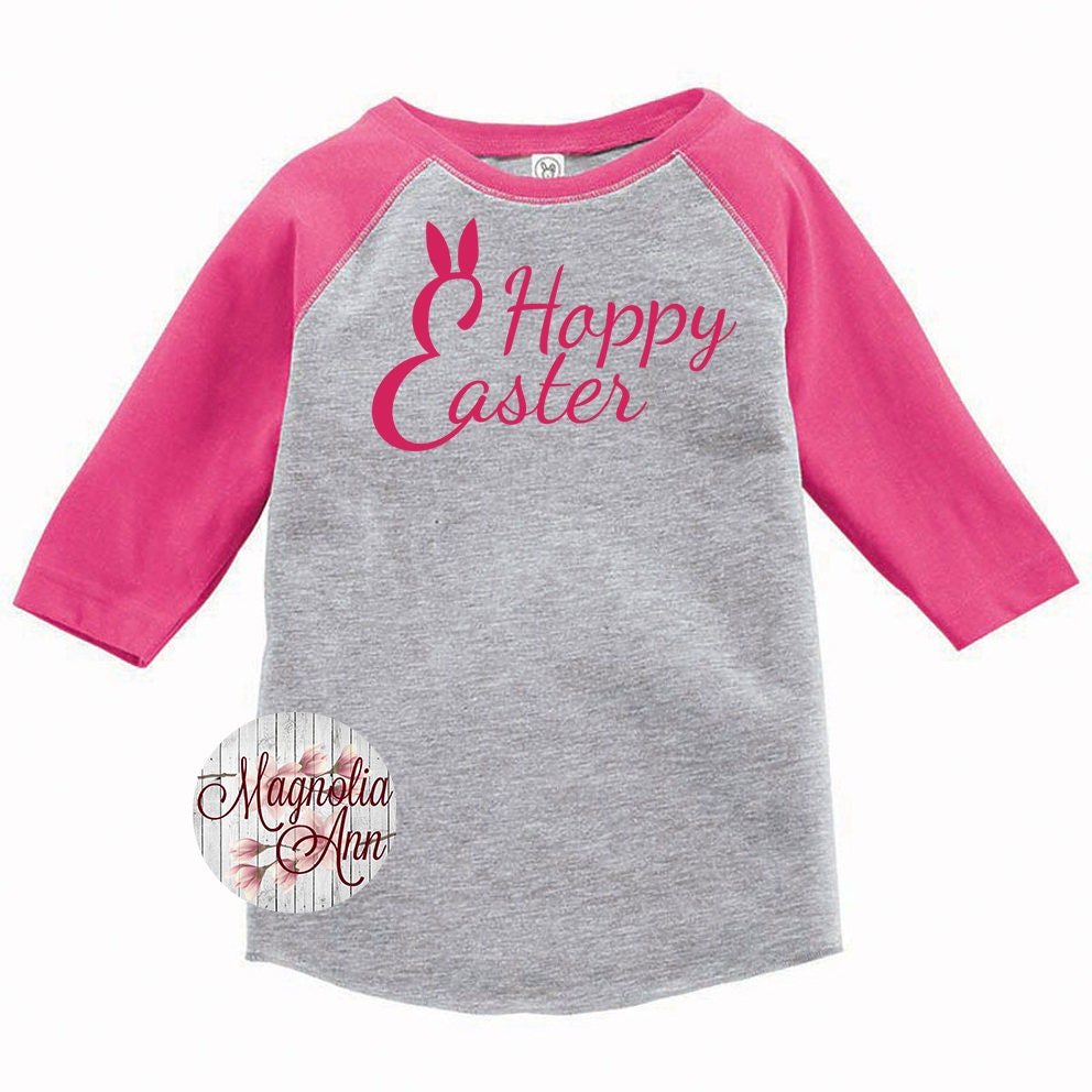 2a73cec4fa Happy Easter Shirt, Hoppy Easter Shirt, Kids Easter Shirt , Toddler ...