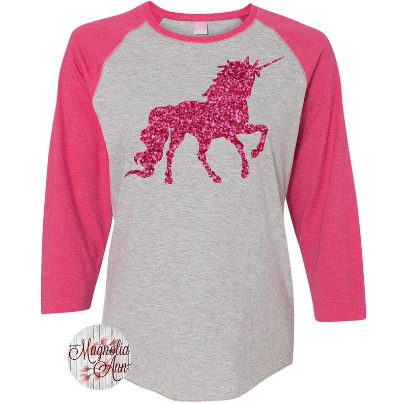 0c0789f94 Unicorn Women's Baseball Raglan Shirt Plus Size Clothing | Etsy