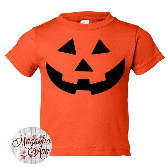 Carved Pumpkin, Halloween, Toddler T-Shirt in 11 Different Colors in Sizes 2T-5/6