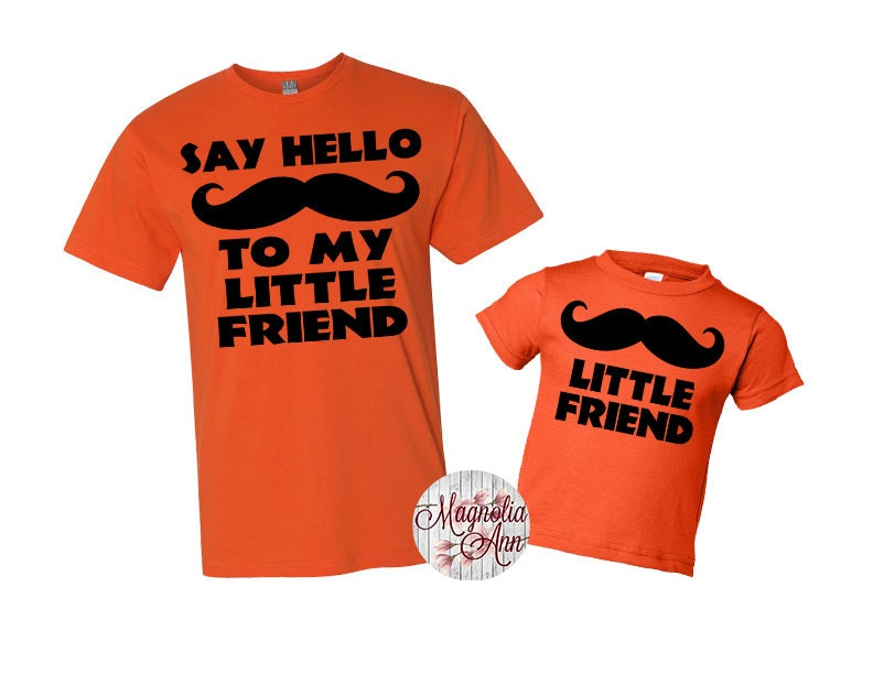 1f1d22ee6 Say Hello To My Little Friend Shirt Set, Father Son Tees, Father Son  Matching Shirts, Daddy and Me Matching Shirts, Matching Family Shirts