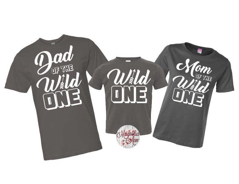 Family Of The Wild One Shirt Birthday 1st Shirts Mom And Dad First