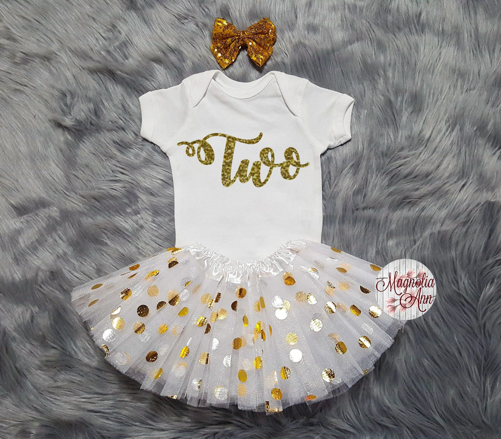 Two 2nd Birthday Onesie Tutu Outfit Toddler Shirt Girl 2 Year Old Bday