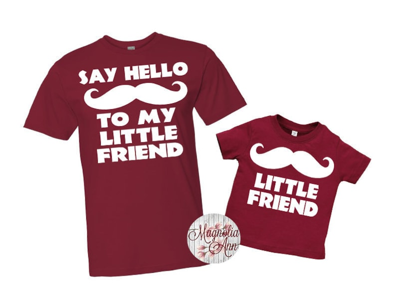 ca758b882 Say Hello To My Little Friend Shirt Set Father Son Tees | Etsy