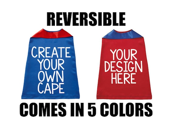 Custom Cape, Custom Superhero Cape for Kids, Halloween Kids Cape, Reversible Cape, Kids Superhero Capes, Capes for Girls, Capes for Boys