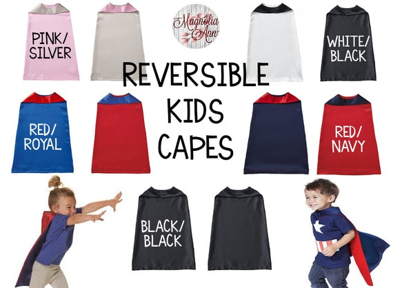 Kids Superhero Capes Capes for Girls Reversible Cape Custom Cape Halloween Kids Cape Capes for Boys Custom Superhero Cape for Kids