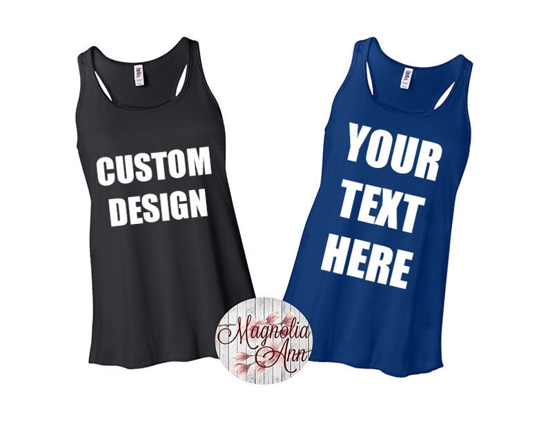 be50a0aea Personalized Racerback Tank Top Custom Tank Top Make Your   Etsy