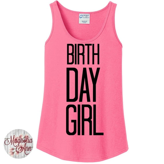 Birthday Girl, Happy Birthday Women's Tank Top in 6 Colors, Sizes Small-4X, Plus Size