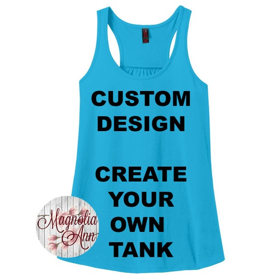 Custom Design, Create Your Own Design Women's Racerback Tank Top in Sizes Small-4X, Plus Size Clothing, Plus Size Tank, Plus Size Racerback