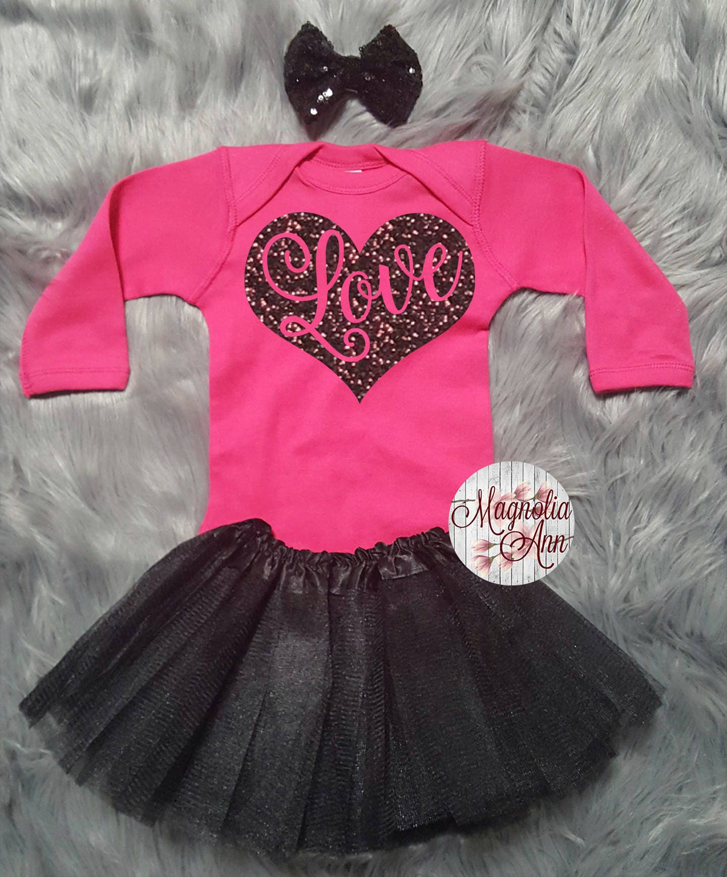 Love Heart Valentines Outfit Toddler Valentines Day Outfit Baby