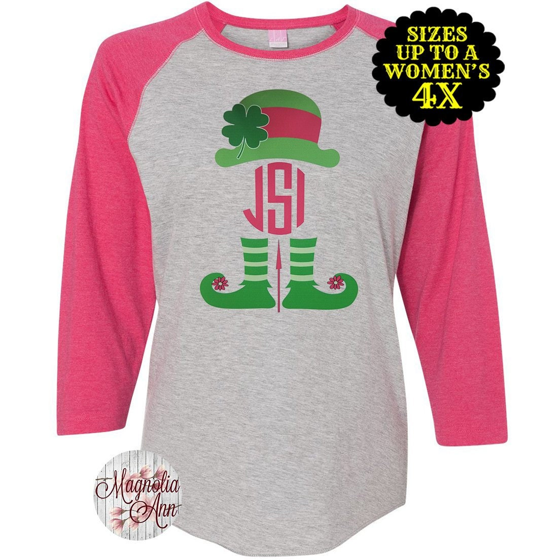03b97d725 Leprechaun Monogram Shirt, St. Patricks Day Shirt, Matching St ...
