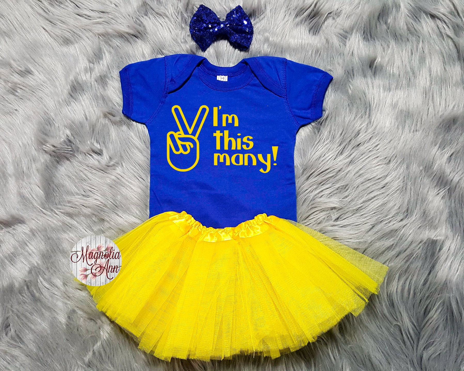 Im This Many 2nd Birthday Tutu Outfit