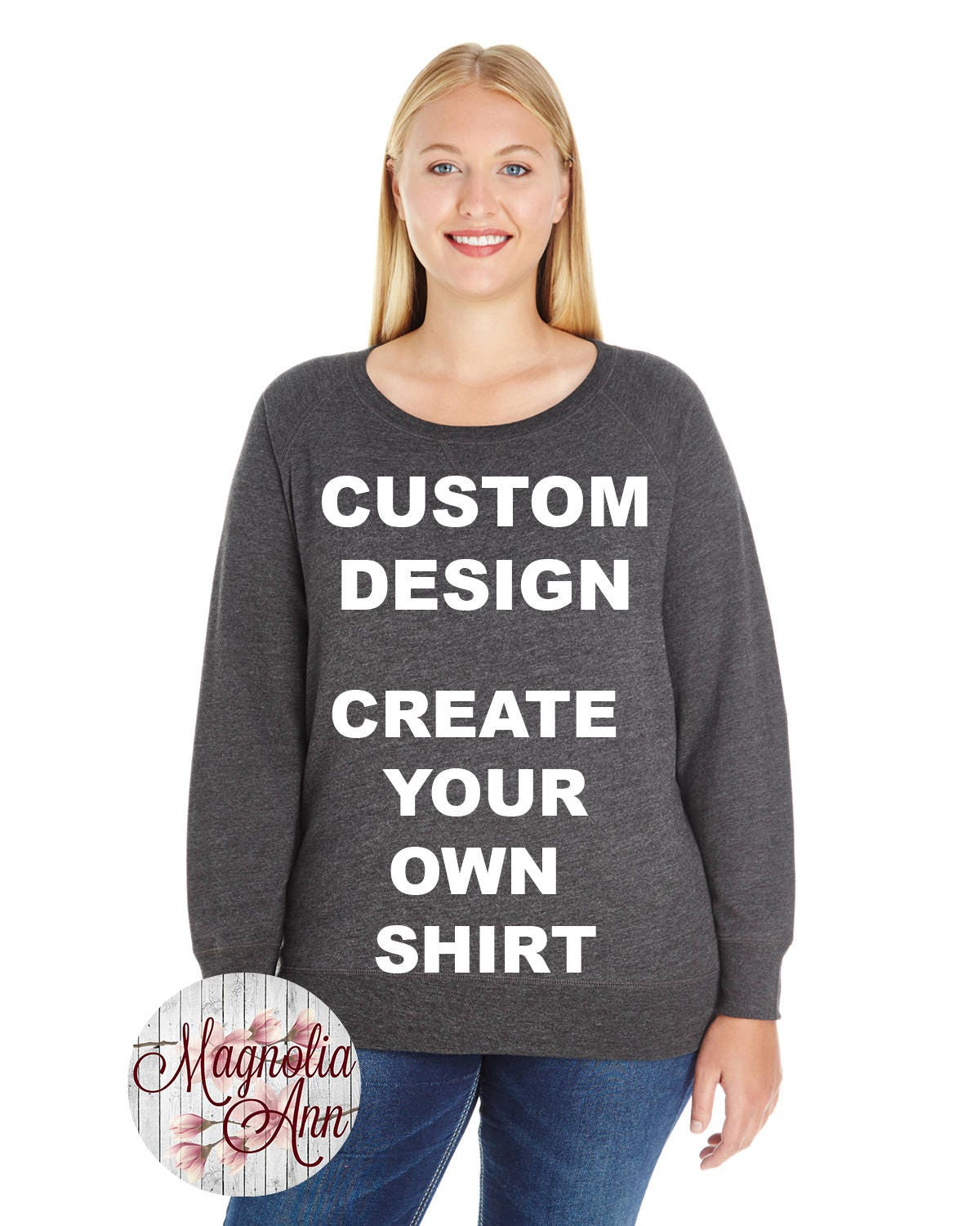 6dba8da9 Custom Design, Create Your Own Shirt, French Terry Pullover ...