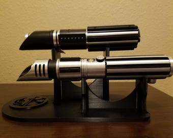 BEST Custom lightsaber stand - double stand