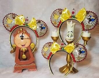 Beauty & the Beast Minnie Ears, Belle Ears, Beauty and the beast ears, Belle Mickey Ears, Belle Minnie Ears, Princess Belle Ears, Belle Ears