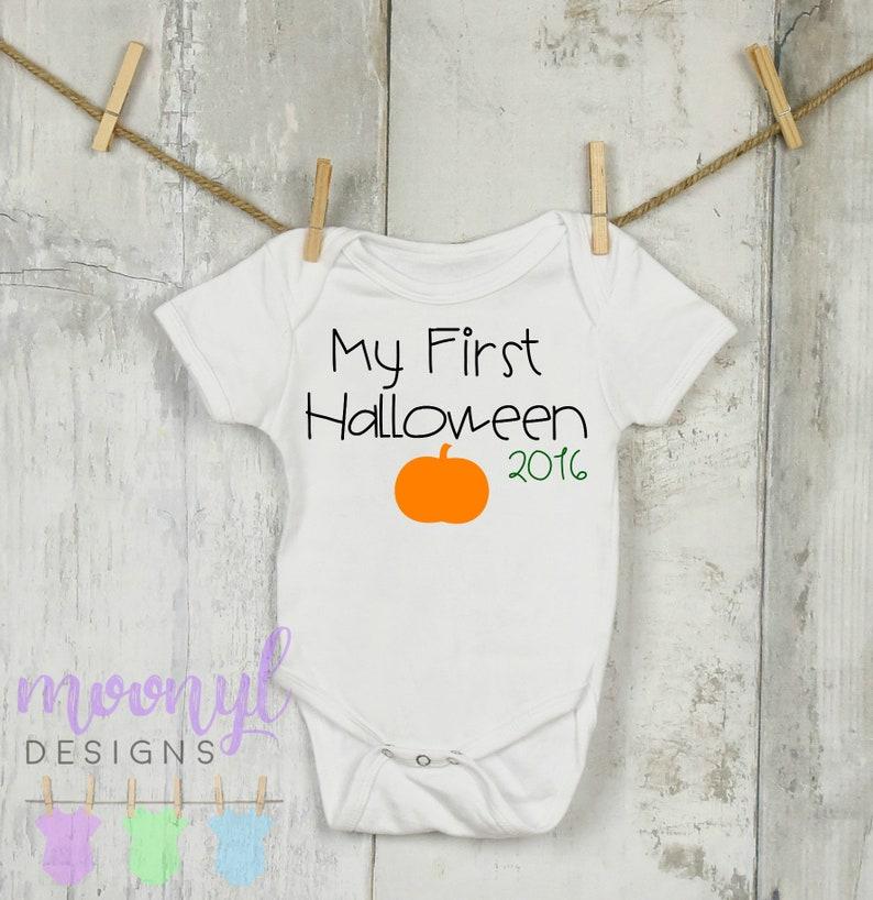My First Halloween Onesie®, My 1st Halloween Onesie®, Halloween Onesie®,  Personalized Halloween Onesie®, Custom Halloween Onesie®