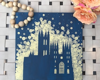 Canterbury Cathedral Painting//Cathedral Art//Church Art//World Traveler Gift
