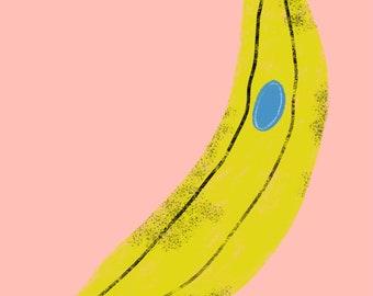 Banana print A5