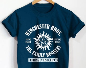 89295c6f Winchester Brothers Shirt Supernatural T-Shirt Sam Dean Tshirt Unisex  Clothing Top Tee