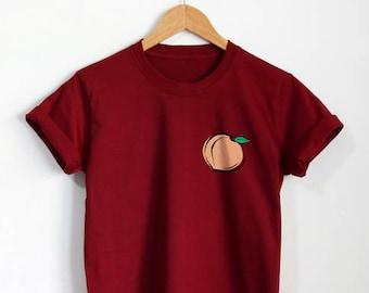 b8946ed5d2fb2 Peach Shirt Peach Pocket T-Shirt Unisex Clothing Top Tee Gift Idea
