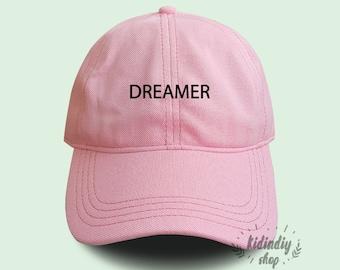 b3085d98 Dreamer Cotton Baseball Hat Embroidered Baseball Caps Low Profile Unisex  Adjustable Cap Pinterest Instagram Tumblr