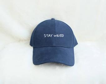 the best attitude 7287d 8311f STAY WEIRD baseball cap Unisex Baseball cap embroidery baseball cap two tone  cotton