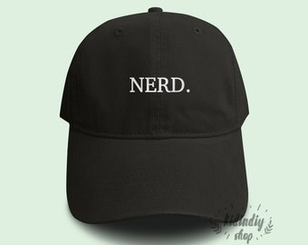 23b9f4dab6035 Nerd Baseball Hat Dad Embroidered Baseball Caps Low Profile Unisex  Adjustable Cap Pinterest Instagram Tumblr