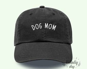 6c890bb73be DOG MOM Cotton Baseball Hat Embroidered Baseball Caps Low Profile Unisex  Adjustable Cap Pinterest Instagram Tumblr