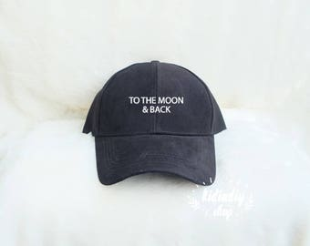 d7d8cc4d8d5 To the moon and back Baseball Hat Embroidered Baseball Caps Hipster Fashion  Cotton Hats Pinterest Instagram Tumblr