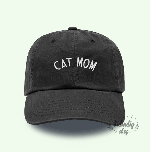 5e57178974f Cat Mom Cap Baseball Hat Embroidered Father Baseball Caps Low Profile  Unisex Size