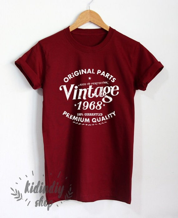 a6189826a Original Vintage 1968 Shirt 50th Birthday T-Shirt Present | Etsy