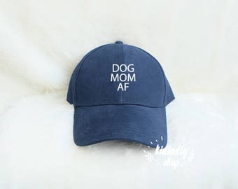 Dog Mom AF baseball cap Unisex Baseball cap embroidery baseball cap cotton