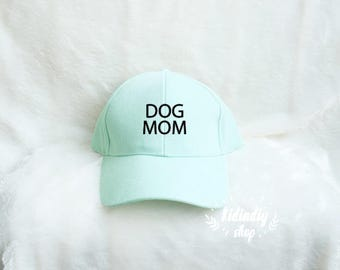 Dog Mom baseball cap Unisex Baseball cap embroidery baseball cap cotton