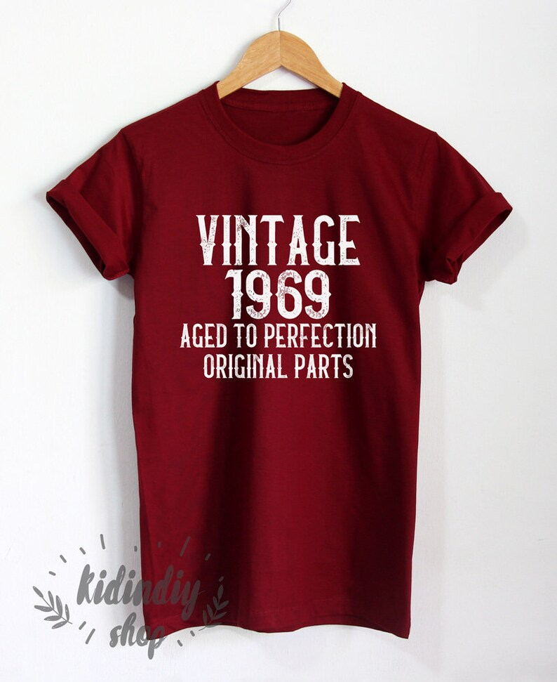 532786f1e Vintage 1969 Aged to Perfection Shirt 50th Birthday T-Shirt | Etsy