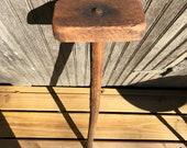 Antique Primitive Wooden Mallet, Hammer, Large