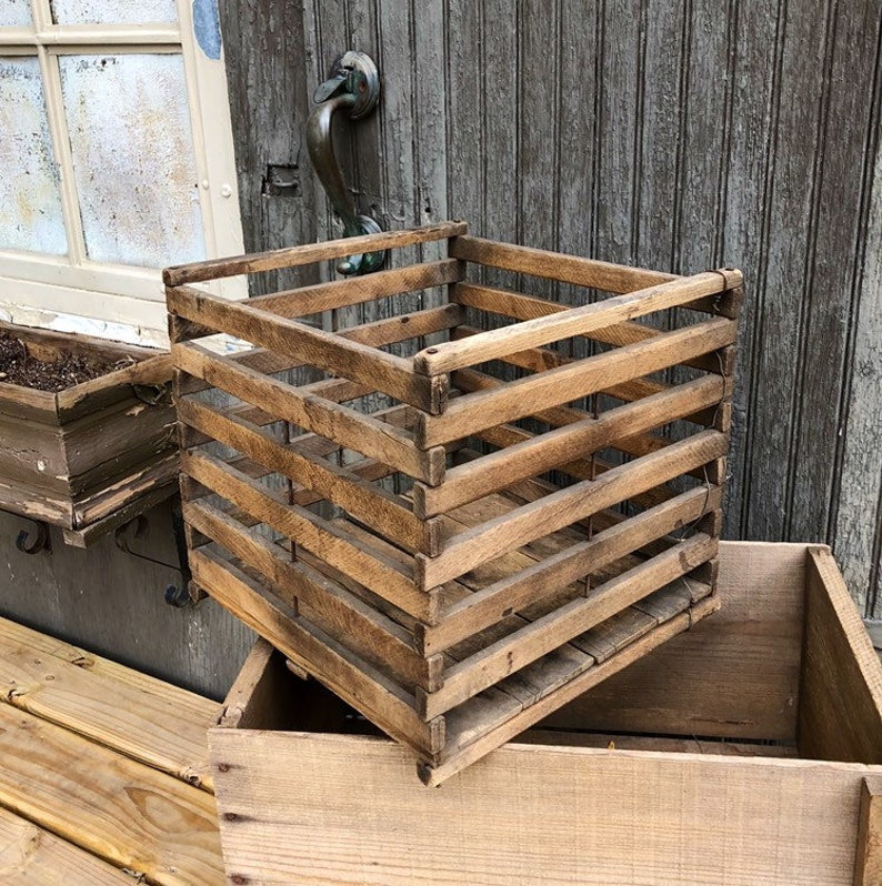 Antique Wooden Crate Wooden Egg Crate Box Carrier Humpty Dumpty Crate