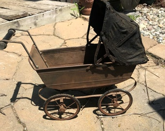 Antique Baby Doll Carriage Buggy