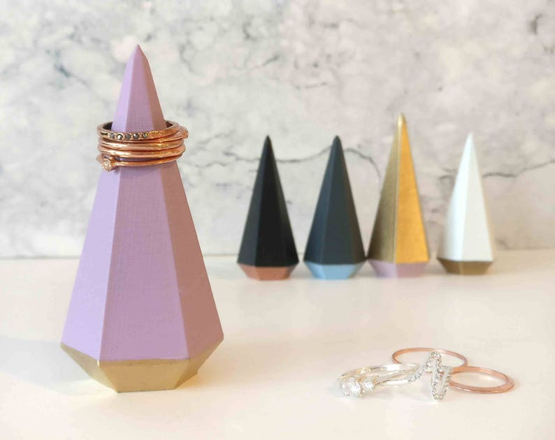 Large Ring Holder 3D printed Geometric Cone