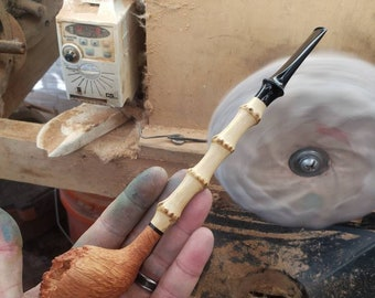 Sandblasted Natural Finish Dragon Claw Bamboo Dublin With SEM German Ebonite Stem