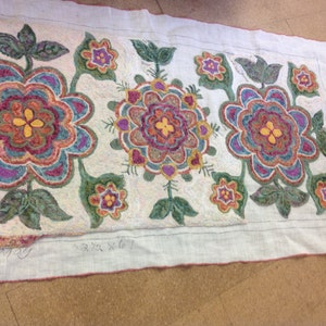 Rug Hooking Pattern Only Priscilla  Primitive on our Finest Linen 32 x 58