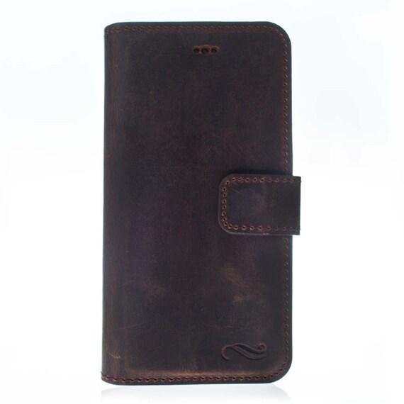 Iphone 8 Leather Wallet Case Vintage Braun Mobile Bag Sleeve Handytasche Hülle Ra G2 Ip8