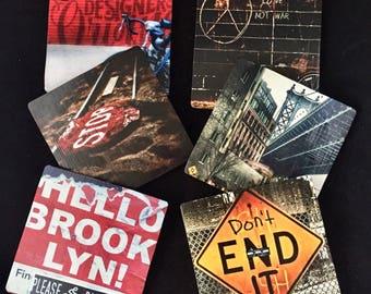 Photo coasters-Brooklyn coasters-Brooklyn photography-street photos-New York Coasters-NYC photo coasters-decorative coasters